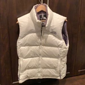 The north face women's white down vest